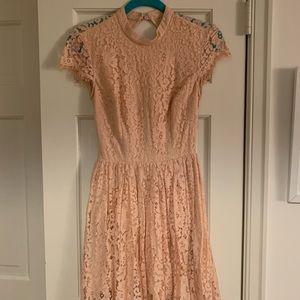 Blush lace dress